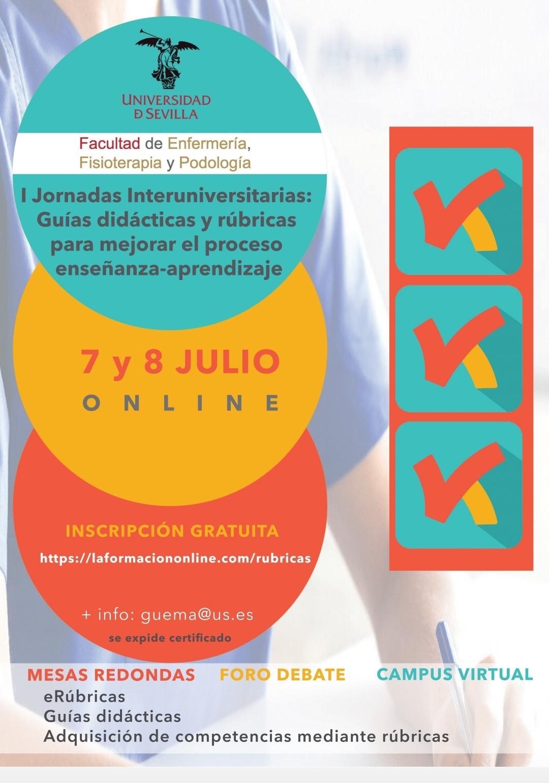 I Jornadas Interuniversitarias: Guías didácticas y rúbricas para mejorar el proceso enseñanza-aprendizaje [7 y 8 julio]