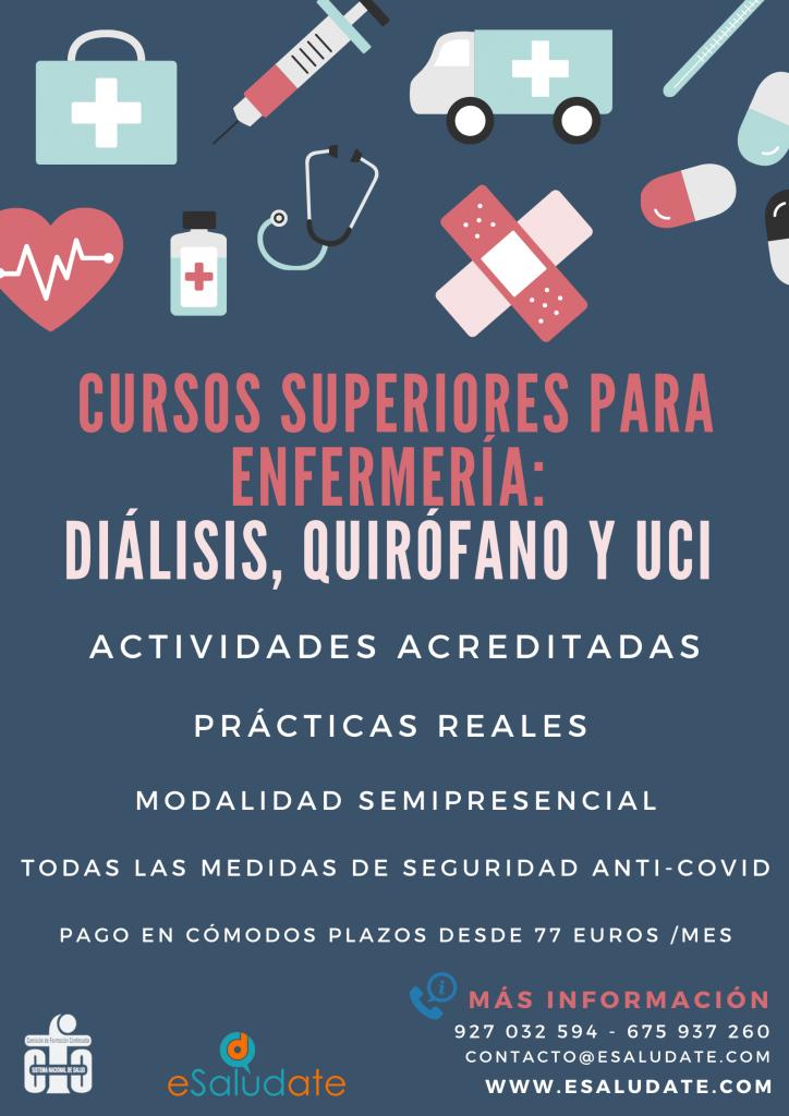 Cursos superiores para Enfermería: Diálisis, Quirófano y UCI